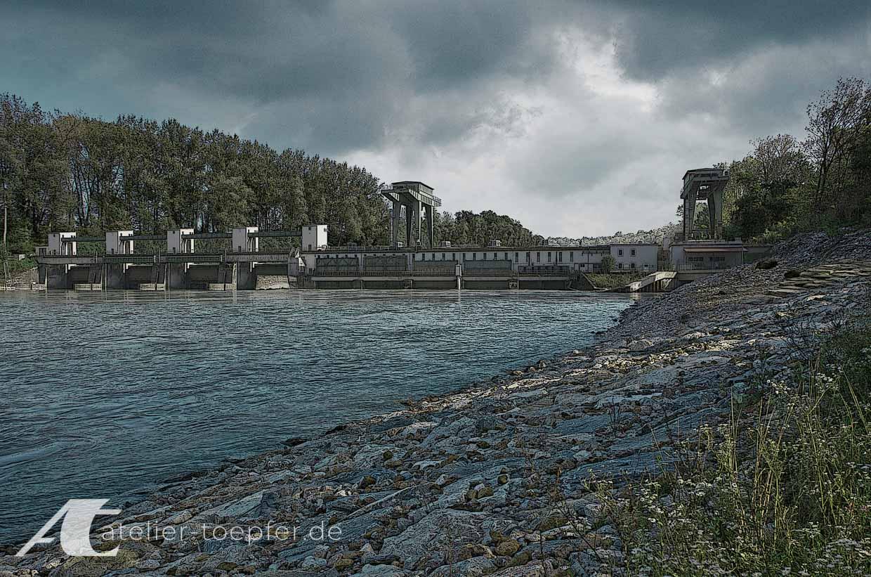 herkömmliches Wasserkraftwerk