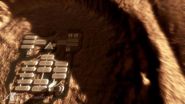 Landung auf dem Mars Motiondesign