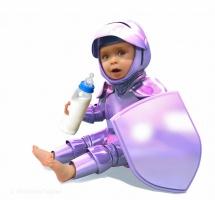 Kombination aus Foto und 3D-Objekt/ schützende Baby-Nahrung / Entwurfsarbeit für LÜDERS,BBDO Köln
