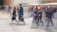 Fussgängerzone fotografischer Impressionismus, impressionistische Fotografie Slow Speed