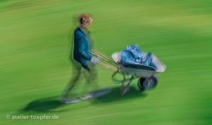 Rasen mähen motionblur, slowspeed, Bewegungsunschärfe