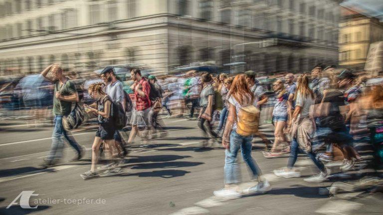 Slow-shutter-speed Menschen