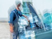 Impressionistische Aufnahme in einer Autowerkstatt