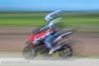 Slow-Speed-Foto vom Motorrad Training Bremsen