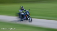 Slow-Speed-Foto vom Motorrad Training