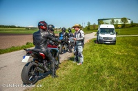 Redaktionelle Aufnahme Motorrad Fahrtraining Bremsen