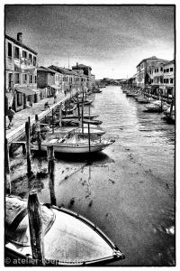 Murano Hochkontrast-Foto Hafen