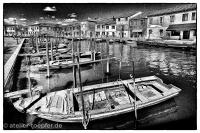 Murano Highcontrast-Foto Boote an der Lagune