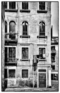 Venedig Hochkontrast-Foto Wohnhaus