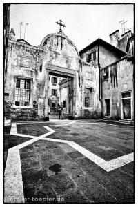Venedig Hochkontrast-Foto Innenhof