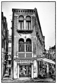 Venedig Hochkontrast-Foto Restaurant