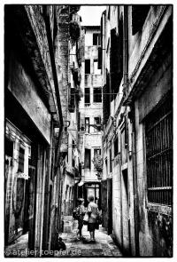 Venedig Venedig-Hochkontrast-Foto Gasse