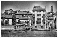 Venedig Highcontrast-Foto Stadt der Brücken