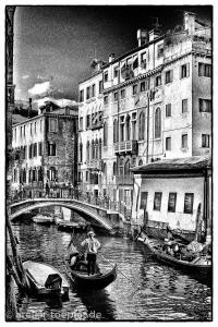 Venedig Highcontrast-Foto Gondel
