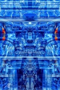 Illustration auf Fotobasis: Maschinenbau, Mechatronik