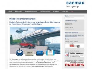 Website Telemetrie-Lösungen CAEMAX