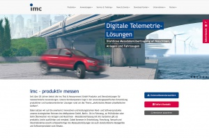 Website Telemetrie-Lösungen imc