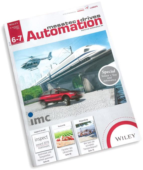 Titelbildmotiv Fachzeitschrift Automation