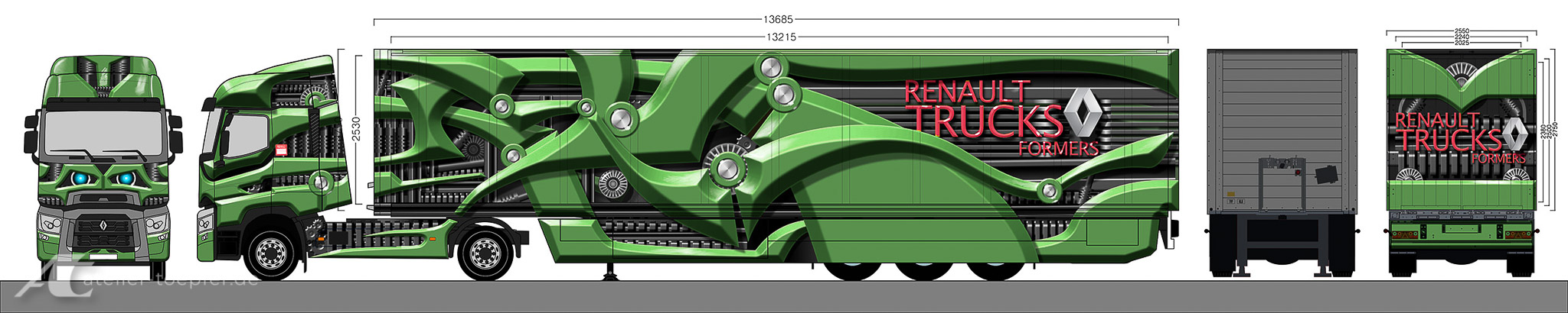 Layout für ein Truck-Design
