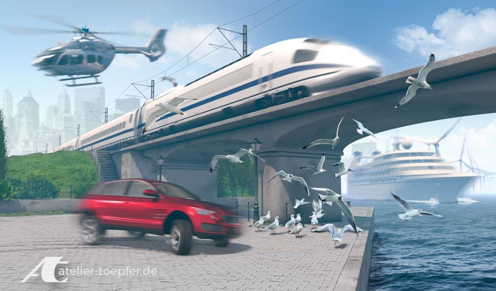 3D-Illustration Digitale Telemetrie-Lösungen