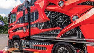Lastwagen-Design für eine Roadshow