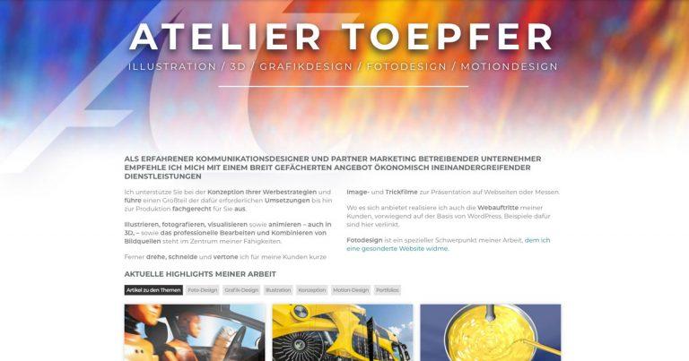 Startseite ATELIER TOEPFER Kommunikationsdesigner