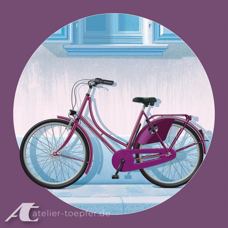 Fahrrad: Beispiel zum Thema Vekrorillustrationen, Titel: bodenständig