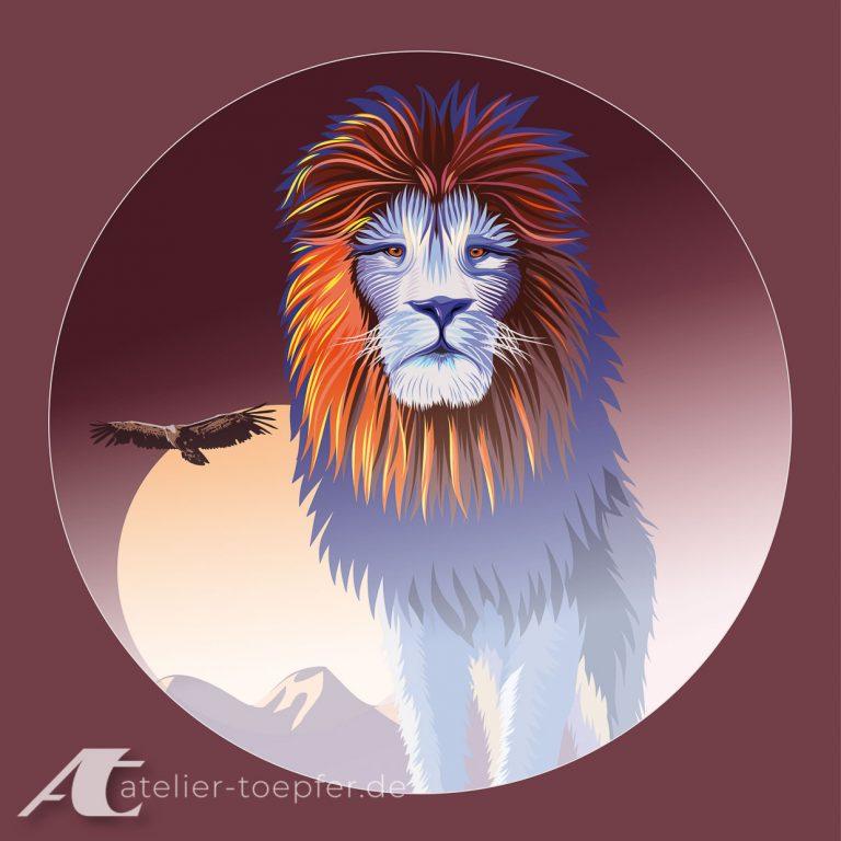 Löwe: Beispiel zum Thema Vekrorillustrationen, Titel: mutig