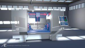 Industriefilm animiert Überwachung einer Werkzeugmaschine