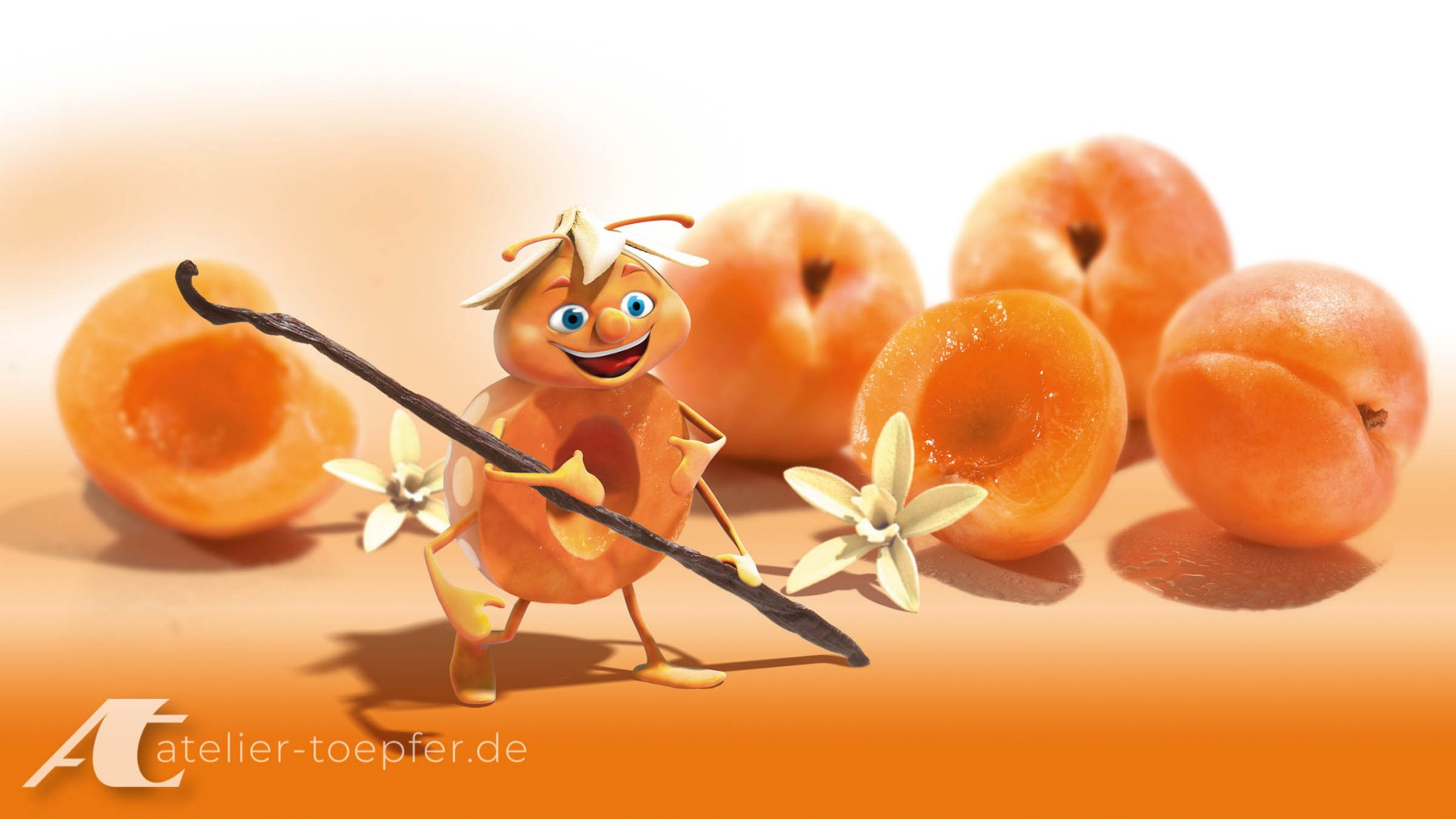 Food-Illustration zum Thema Kindertee aus Marillen