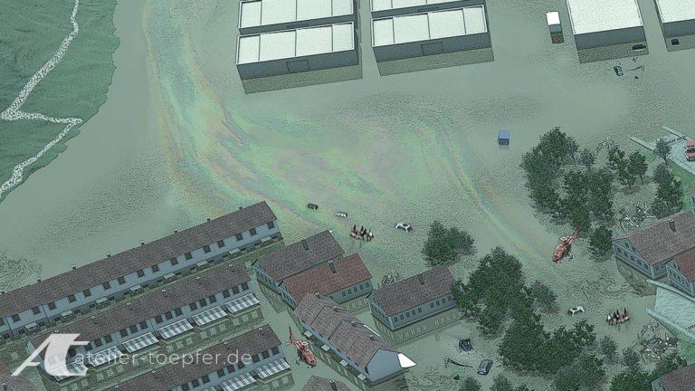 Ausschnitte aus der Übersichtsgrafik Hochwasser